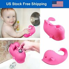Pink Baby Bath Spout Cover Faucet Protector Bathroom Bathtub Silicone Cover Toys
