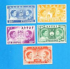 ETHIOPIA -  Scott 297-301 - VFMNH - Liberation from Italy  - 1949
