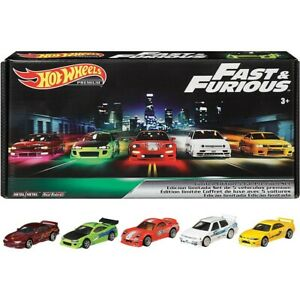 Set 5 Cars Hot Wheel Original Premium Fast & Furious Collectible Limited Edition