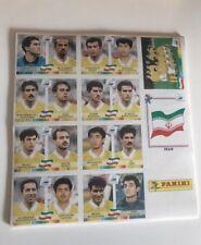 Panini coupe du monde 98 France 1998 World cup Stickers collés Iran équipe