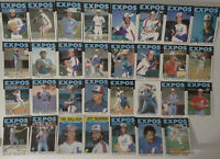 1986 Topps Montreal Expos Team Set of 31 Baseball Cards