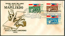 1963 Philippines HONORING MANILA SUMMIT CONFERENCE First Day Cover
