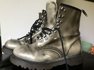 Vintage Dr. Martens Docs MIE Chunky England Tunnel Eyelets Uk 4 US 6 6.5 Boots