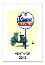 2012 Vintage Vespa Servizio Cavallini Calendar/Calendario-Motorcycle-Scooter
