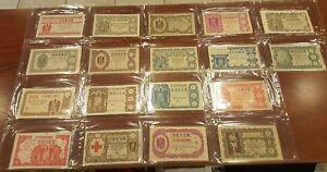 Juego completo 36 decimos Loteria Nacional año 1953 A1