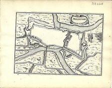 Antique map, Meszierre (Charleville-Mezieres)