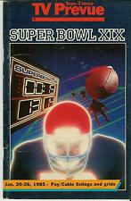 85 Tv Prevue Super Bowl Xix O J Marino Montana 2nd City