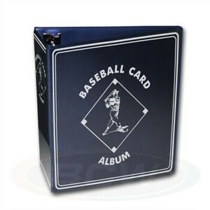 """Lot of 6 BCW Blue Baseball Card Collection 3"""" D-Ring Albums binders books"""