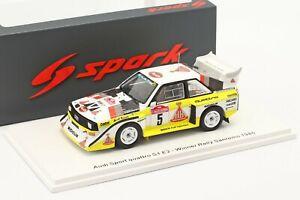 AUDI QUATTRO Sport E2 #5 W.Roehrl Winner Rally San Remo 1985 - 1/43 - SPARK