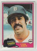 1981 Topps Baseball Detroit Tigers Team Set