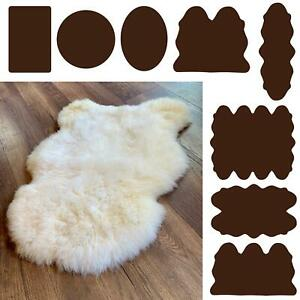 Nordvek Genuine Natural Sheepskin Rug 100% White Pelt Large Double XXL Quad Real