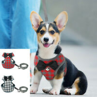 Cute Bowtie Pet Dog Harness and Lead Soft Mest Vest for Small Medium Dog Cat S-L