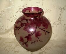 1800's Signed Legras Cameo Art Glass Vase done in a Floral Design, EXCEPTIONAL!