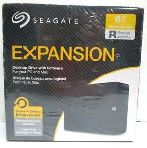 Seagate Expansion MAC PC Desktop/Laptop Storage 6TB HDD STKR6000400 SRD0NF2