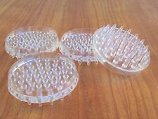 4x Clear Spiked Floor Castor Cups 52mm Caster Carpet Cup Furniture Protector ii