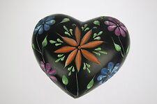 3 Inch Black Soap Stone Heart Shaped Incense Stick Holder Soapstone (black-d)