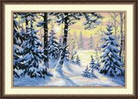 Counted Cross Stitch Embroidery Kit 698 Winter Forest by Oven