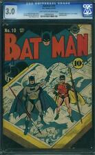 Batman #10 CGC 3.0 DC 1942 Catwoman Robin Justice League Superman E12 1 cm SALE!