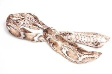 Gorgeous Elegant Women Thin Satin Brown Wired Headband with Animal Pattern(S317)
