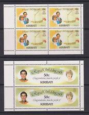 1981 Royal Wedding Charles & Diana MNH Stamp Set Kiribati SG 156-157