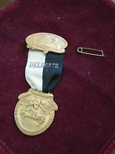1924 W&H Michigan State Firemen's Association SAGINAW JUBILEE DELEGATE Badge WOW