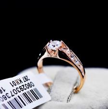 ITALINA Anniversary 18K rose gold gild wedding ceremony ring size 7 T255