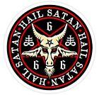 Hail Satan 666 Baphomet Pentagram Devil Wicca Black Magic Sticker or Magnet