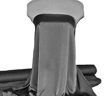 "Satin Chiffon Charcoal 049 Silky Dull 60 "" .Formal, Lingerie , Dresses, Decor"