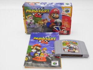 Nintendo NUS Mario Kart 64 Complete In Box Manual Included 0237