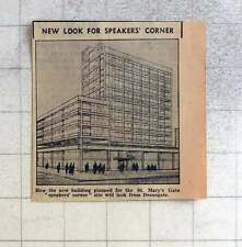 1959 New New Building Plan For St Mary's Gate Speakers Corner