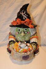 Fitz & Floyd - Gypsy Witch Cookie Jar - Retired 2003 - In Box, 1st Ed. - Rare