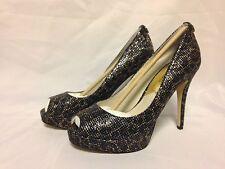 Michael Kors Size 9 M York Cheetah Brown Platform HEELS Womens Shoes