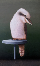 Original expressionist painting on canvas of a kookaburra by Cliff Howard