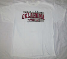 New Mens Womens Property Of Oklahoma 1907 White Tee T-Shirt Size Extra Large XL