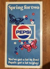Vintage 1969 Original Pepsi Poster Spring for Two