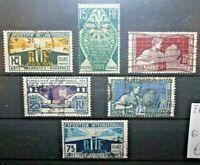 FRANCIA 1925 ESIBIZIONE ARTE MODERNA SERIE TIMBRATA USED SET (CAT.2)