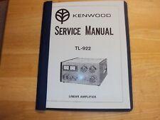 KENWOOD TL-922 Ham Radio Linear Amplifier service manual copy