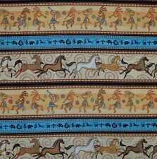 I Spy - Sun Dancer. Dancers, Horses. Border. 100% Cotton Half Metre