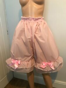 Vintage Paper Nylon,made into Frilled Bloomers/Panties Unisex,Sissy,TVCD,Cosplay