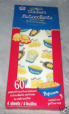 Scratch and Sniff Stickers Autocollants 60pc * POPCORN * Scented 4 Sheets BNIB
