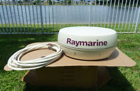 """Raymarine 4KW 24"""" Boat Radar Radome Antenna Model M92652-S Dome With Cable"""