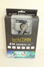 TechComm SPH10 Water Resistant 4K 16MP Action Camera SD Slot Silver