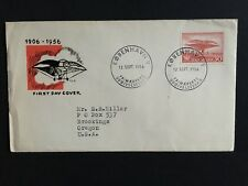 Denmark FDC cover 1956 50th anniversary Danish aviation posted to USA