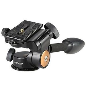 Andoer Tripod Ball Head 3-Way Fluid Head Q08 Video Rocker Arm Camera 360 Degree