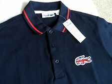 """36-38"""" LACOSTE SPORT GBR Navy Red Polo Shirt Mens TAGS 2 New Tags XS"""