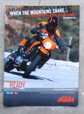 KTM 950 SM SUPERMOTO 2006 Motorcycle Magazine Page Sales Advertisement Brochure