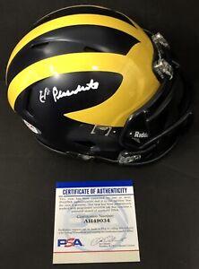 Dave Portnoy Signed Auto El Presidente Michigan Mini Helmet Barstool Psa/Dna