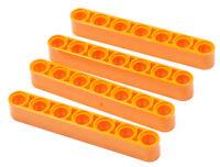 LEGO Technik - 4 x Liftarm dick 1x7 orange / 32524 NEUWARE
