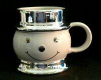 Harry Slatkin Signed 2008 Ceramic Snowman Mug Holiday Christmas Unused w2s14