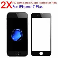 2X Premium 3D Full Cover Glass Screen Protector for Apple iPhone 7 Plus Black